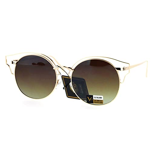 181f50ec362 Amazon.com  Womens Sunglasses Metal Wire Frame Round Wing Top Shades ...