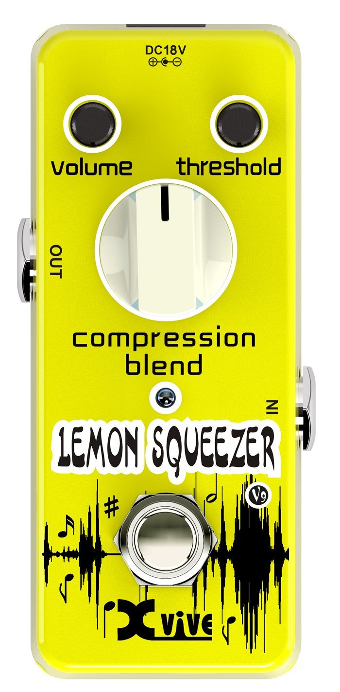 XVive XVV9 Lemon Squeezer Compressor Guitar Effects Pedal