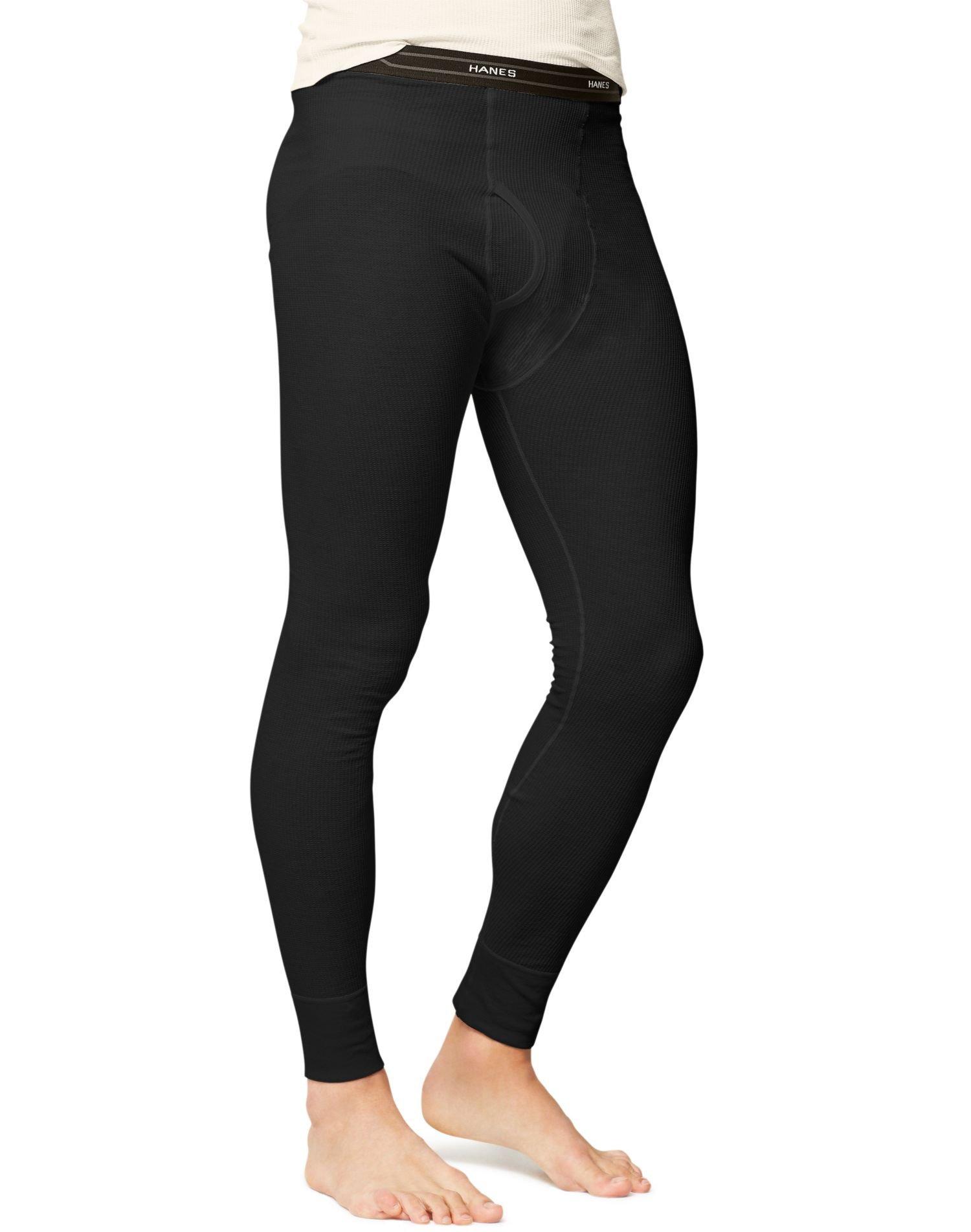 Hanes Men's Big Ultimate Thermal Pant, Black, Small by Hanes