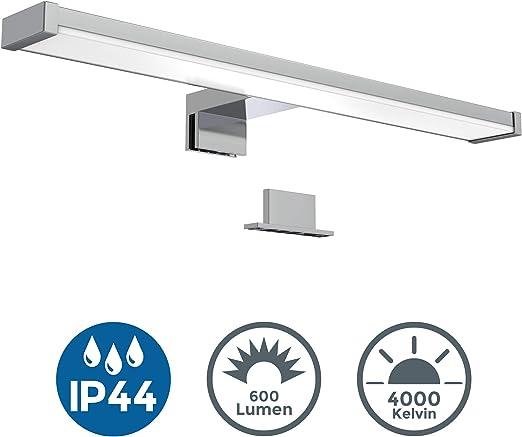 Badbeleuchtung mit viel Licht Schöne LED Badezimmerleuchte Spiegellampe 60 cm