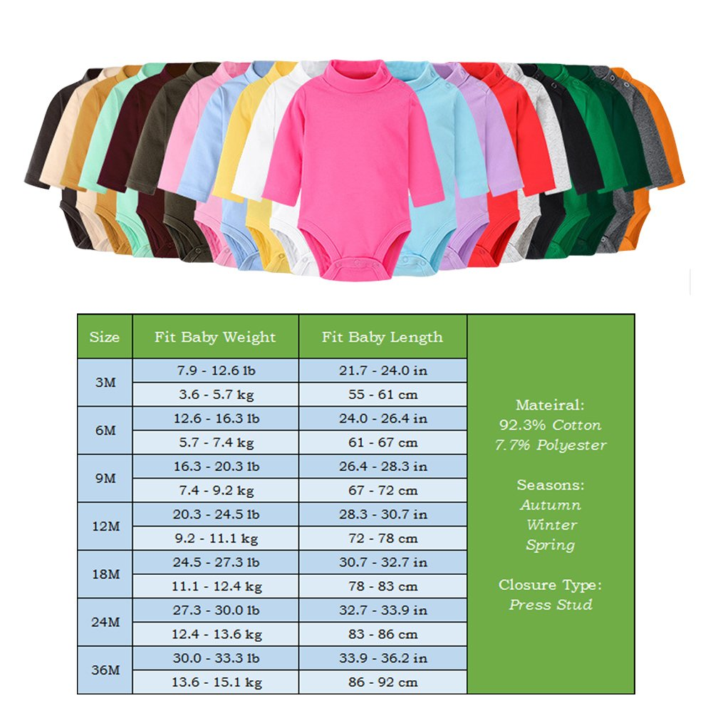d0dd45012326 Amazon.com  ALLAIBB Toddler Long Sleeve Romper Solid Color Vests ...