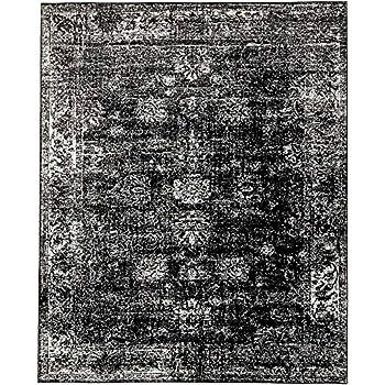 Unique Loom Sofia Collection Black 8 X 10 Area Rug (8u0027 X ...