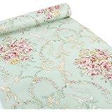 clayre eef deko klebefolie 45 cm x 4 m motiv gro e rosen rosa k che haushalt. Black Bedroom Furniture Sets. Home Design Ideas