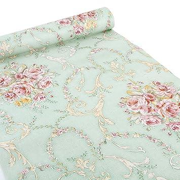 Klebefolie Biedermeier Blumenranken rosa Vintage Möbelfolie selbstklebend Shabby