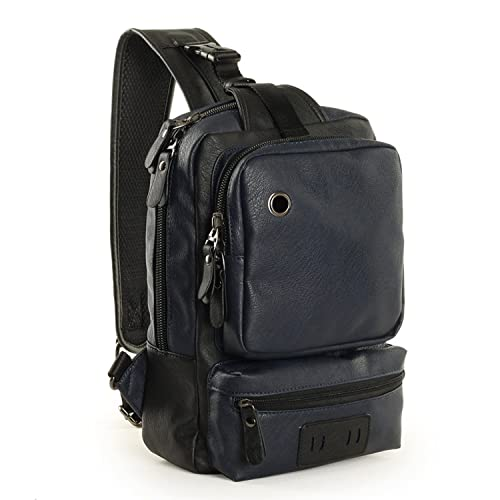 Outreo Bolso de Pecho Bolso Vintage Bandolera Mochilas Bolsos de Tela Bolsas Viaje Hombre Messenger Bag para Colegio Escolares Mujer Bolsa (Azul One): ...