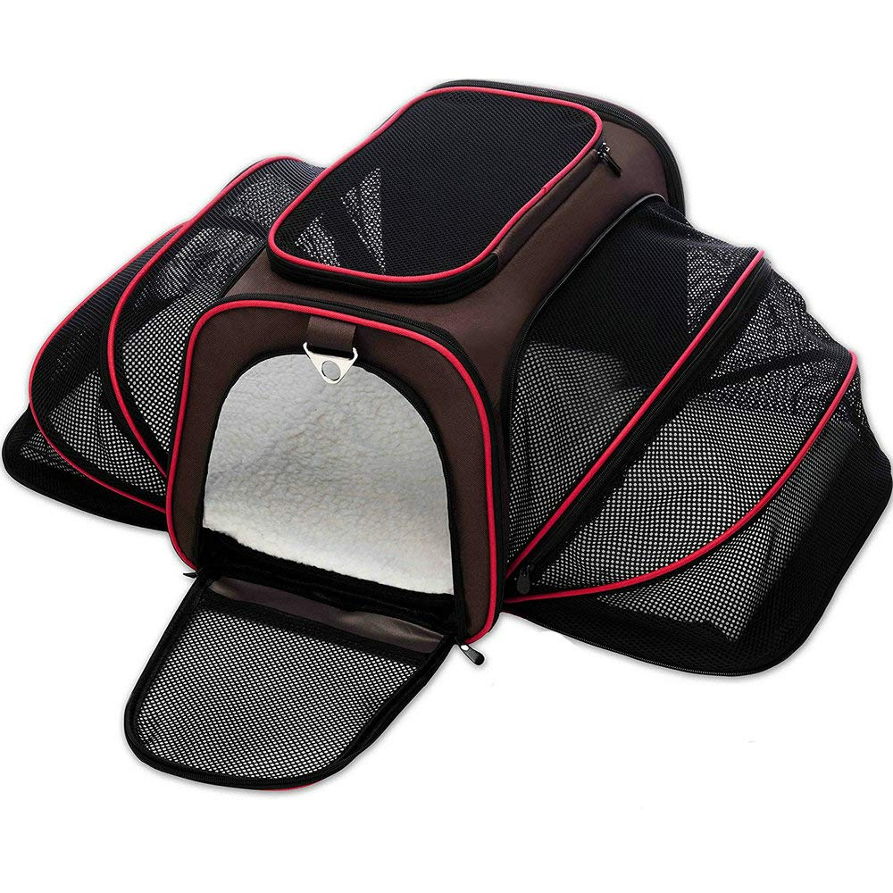 Expandable Pet Carrier Soft Sided Crate Airline Approved Kennel Car Travel Bag Pet Supplies