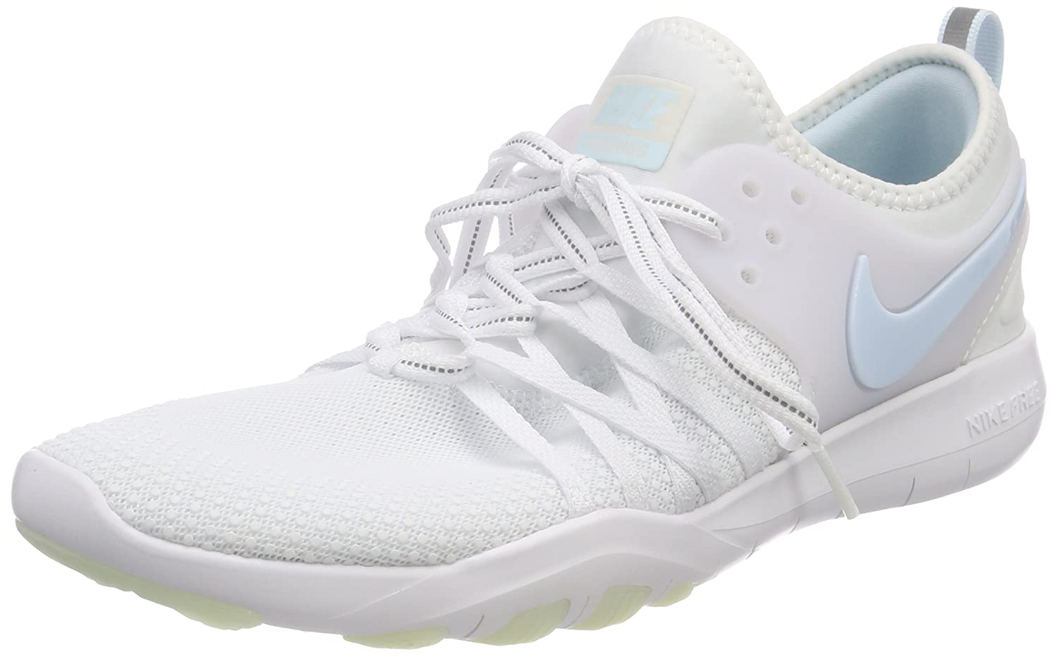 NIKE Free Tr 7 Womens Cross Training Shoes B06WP749J4 9 B(M) US|White/Glacier Blue