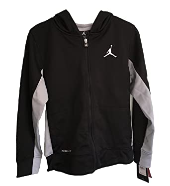 9a1aa8c8df58 Image Unavailable. Image not available for. Color  NIKE Jumpman Air Jordan  Boys  Therma-Fit Full Zip Hoodie