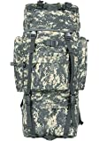 MaxMiles High Capacity 6100 Cubic Inches 100L Internal Frame Backpack Camo Desert Army PCT Hiking Backpack With Aluminum Frame (Green Tactical)