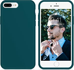 OTOFLY iPhone 8 Plus Case,iPhone 7 Plus Case, [Silky and Soft Touch Series] Premium Soft Silicone Rubber Full-Body Protective Bumper Case Compatible with iPhone 7/8 Plus (Teal)
