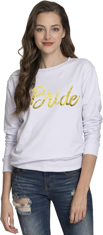 PINJIA Womens Cotton Bride Mrs Bachelorette Party Shirts and Sweatshirt and Tanks(MXT02