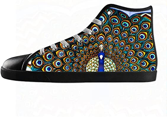 Customized Peacock Top Canvas Sneaker