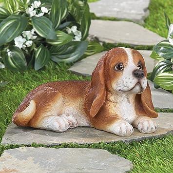 Toby Beagle Dog Outdoor Garden Statue