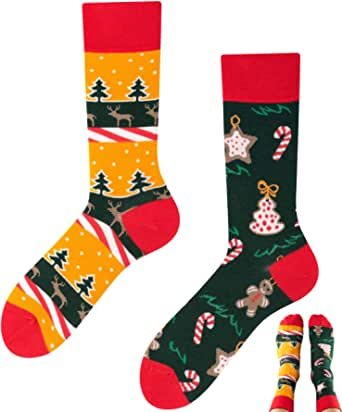 TODO COLOURS Casual Mix & Match - Calcetines multicolor, multicolor para individualistas Navidad. 35-38