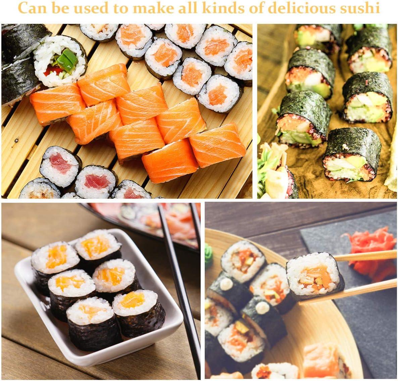 BESTONZON 15pcs kit de sushi de bambú que hace con 2 cintas de ...