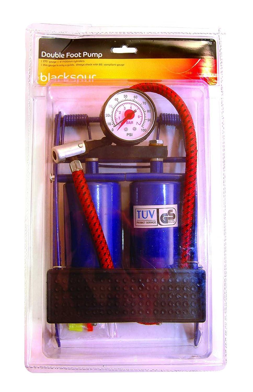 Blackspur BB-FP102 Double Cylinder Foot Pump with Gauge