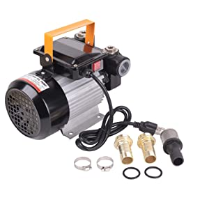 Trupow 110V AC 16GPM Electric Self-priming Diesel Kerosene Oil Fuel Transfer Extractor Pump