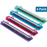 1InTheOffice Binder 3 Hole Punch, Assorted Colors ''4 Pack''