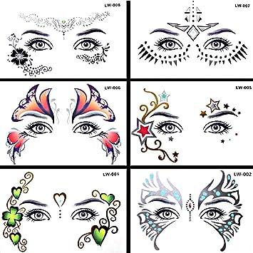 Pinkiou Pegatinas de arte facial Las mujeres se enfrentan al ojo ...