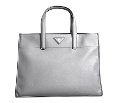 2cce9c4f0f Image Unavailable. Image not available for. Color  Prada Women s BN2603  Grey Saffiano Leather Shoulder Bag