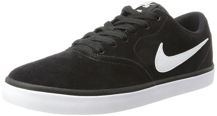Skateboardschuh Check Solarsoft Canvas, Chaussures de Skateboard Homme, Noir (Black-White-PHT 004), 39 EUNike