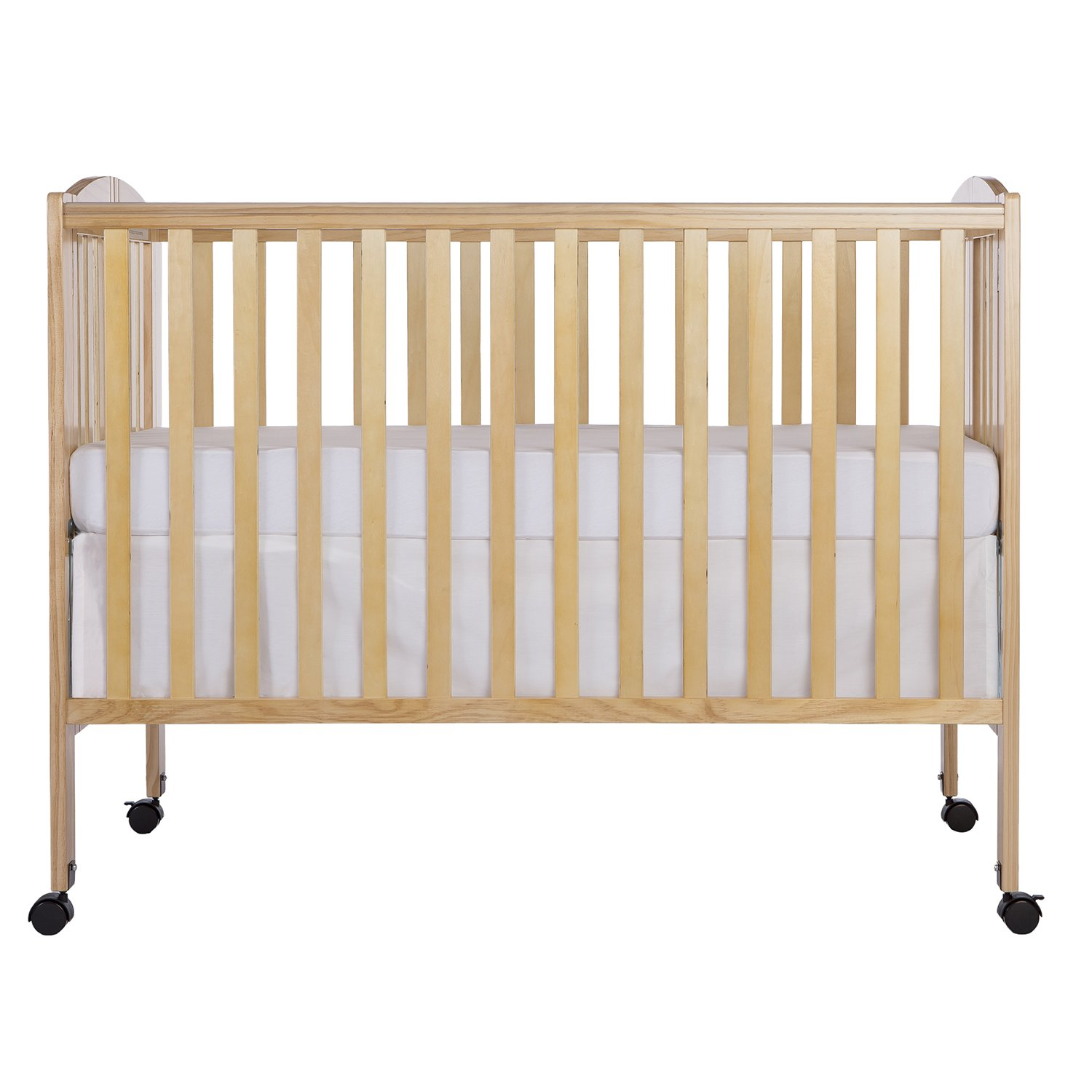 Crib for babies online india - Amazon Com Dream On Me Full Size 2 In 1 Folding Stationary Side Crib Natural Crib Portable Baby