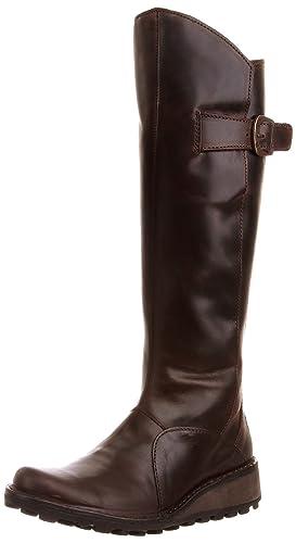 Fly London Damen Mol Leather Stiefel