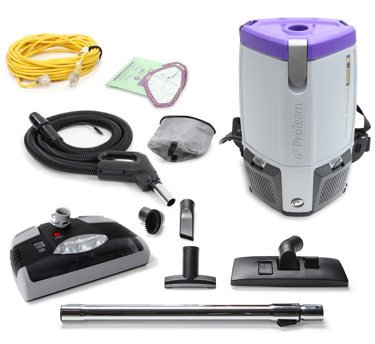 ProTeam ProVac Super Coach Pro 6 QT Vacuum Cleaner with Power Head by ProTeam
