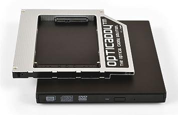 Opticaddy© SATA-3 HDD/SSD Caddy Universal 9.5mm SATA a SATA adaptador SET con carcasa externa USB para una unidad óptica - reemplaza la unidad óptica, ...
