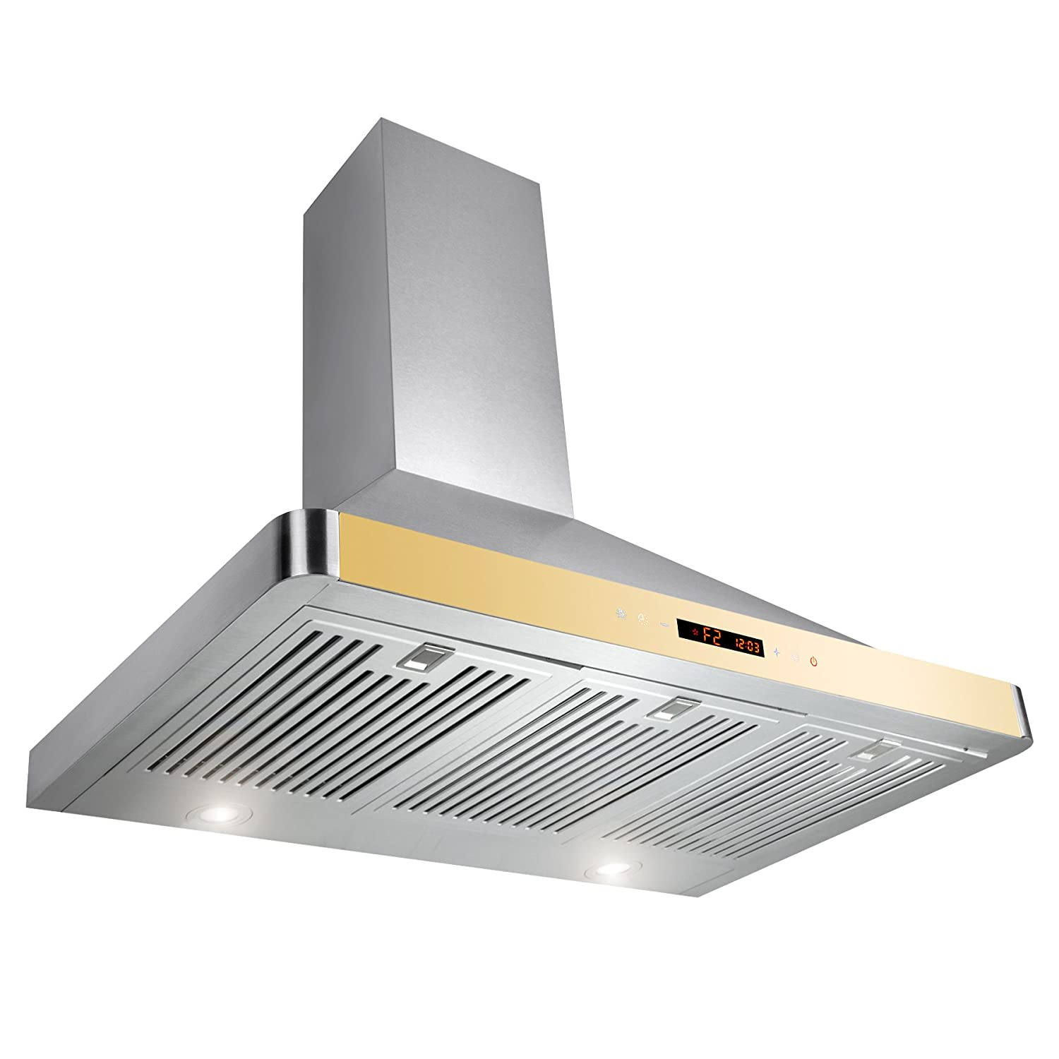 golden vantage 36 wall mount stainless steel ductless