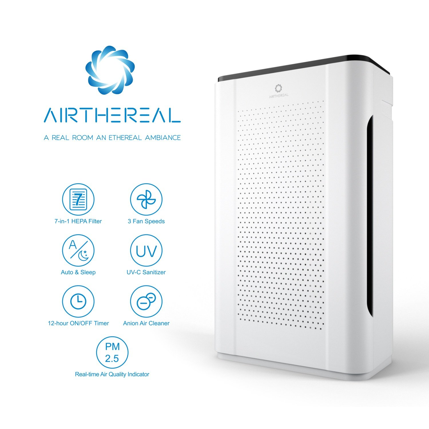 Airthereal 7-in-1 HEPA Air Purifier for Home and Large Room, Pure ...