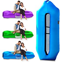 Icefox Inflatable Couch, Inflatable Pool Floats ,Water Proof& Anti-Air Leaking Design-Ideal Inflatable Sofa Lounger, Cool Beach Inflatable Lounger for Hiking Gear, Beach Chair& Music Festivals