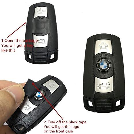 Horande Replacement 3 Button Remote Smart Key Fob Case Shell Fit BMW 1 3 5  6 7 Series E90 E92 E93 Entry Remote Fob Cover