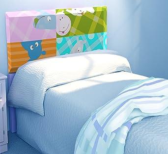 atlamp cabecero infantil para cama de cm o cm con luz
