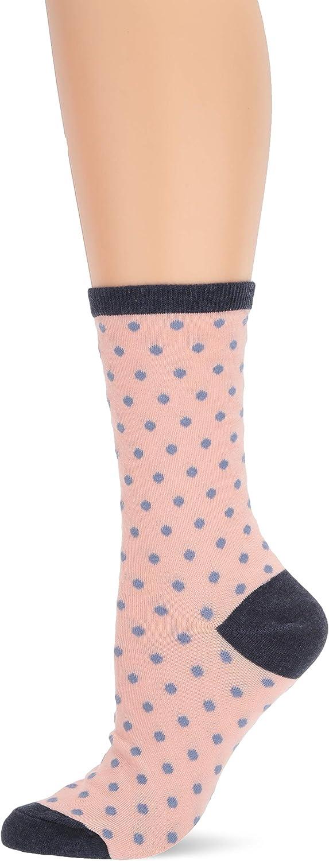 6 Pairs Women Novelty Polka Dot Crew Socks Red//Blue//Pink//Purple//Gray//Black