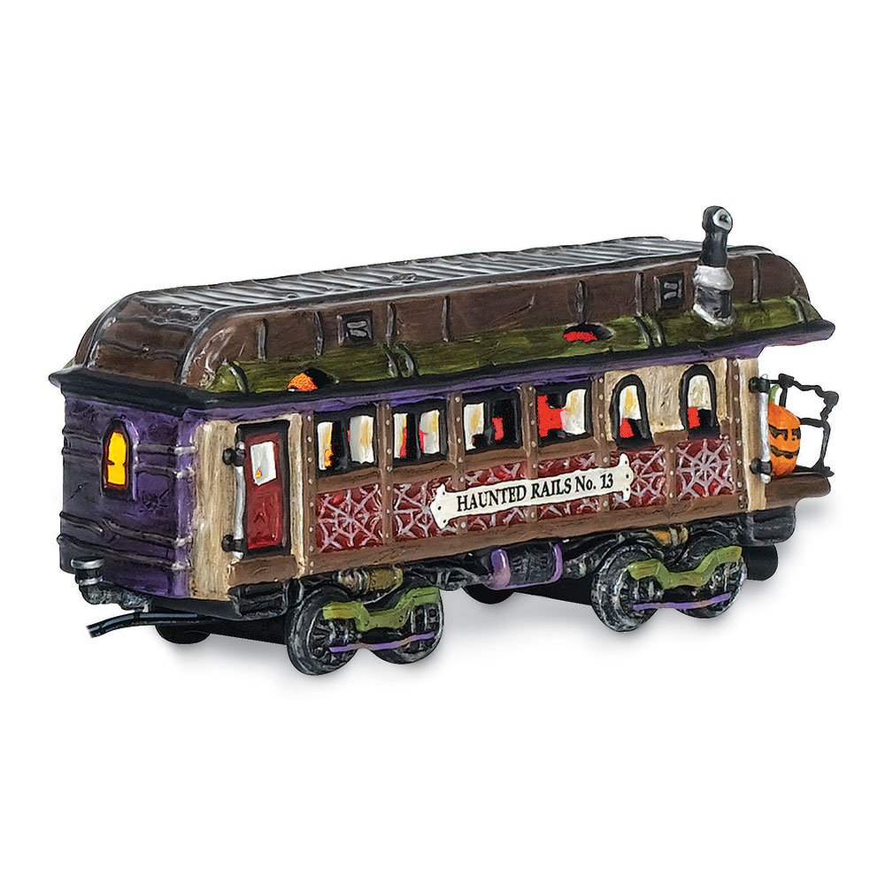 Department 56 Snow Village Halloween Haunted Rails Dining Car Accessory Figurine