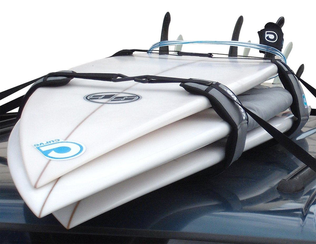 Surfboard Soft Rack LOCKDOWN Premium Surfboard Car Racks by Curve (set of 2) by Curve