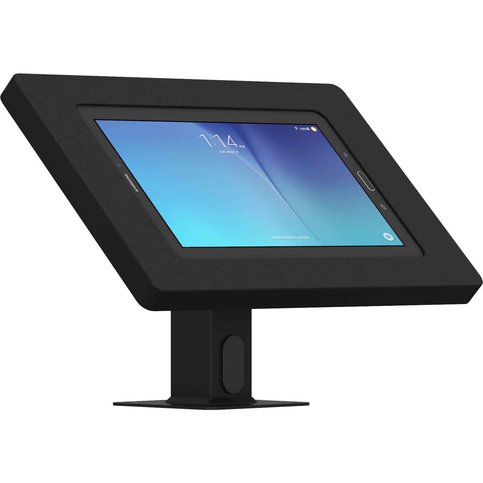 VidaMount Black Enclosure and Rotating & Tilting Desk/Table Mount [Bundle] Compatible with Samsung Galaxy Tab E 9.6