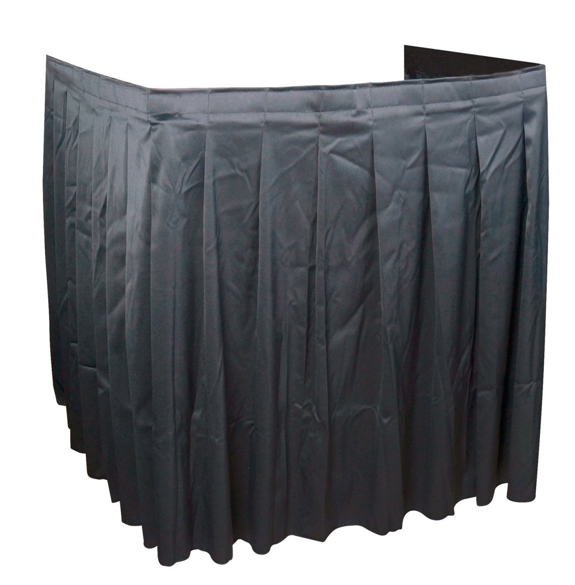 Unique Product Solutions SKIRT-34-4A 84 x 30 in. AV Cart Skirting - 4-Sided Accordian - Black