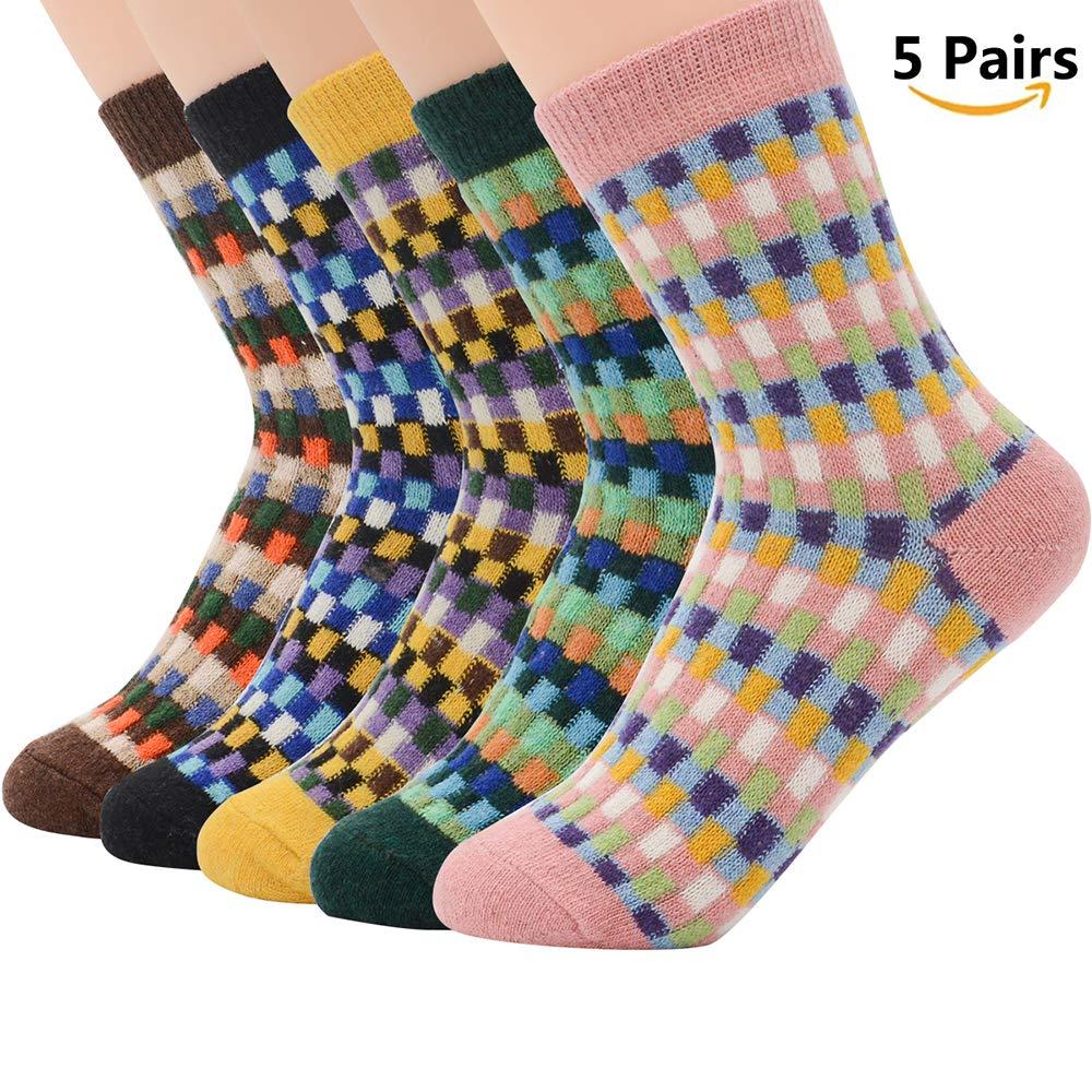 American Trends Women Vintage Style Winter Socks Cute Knitted Warm Wool Socks ATTFDS2609S015P