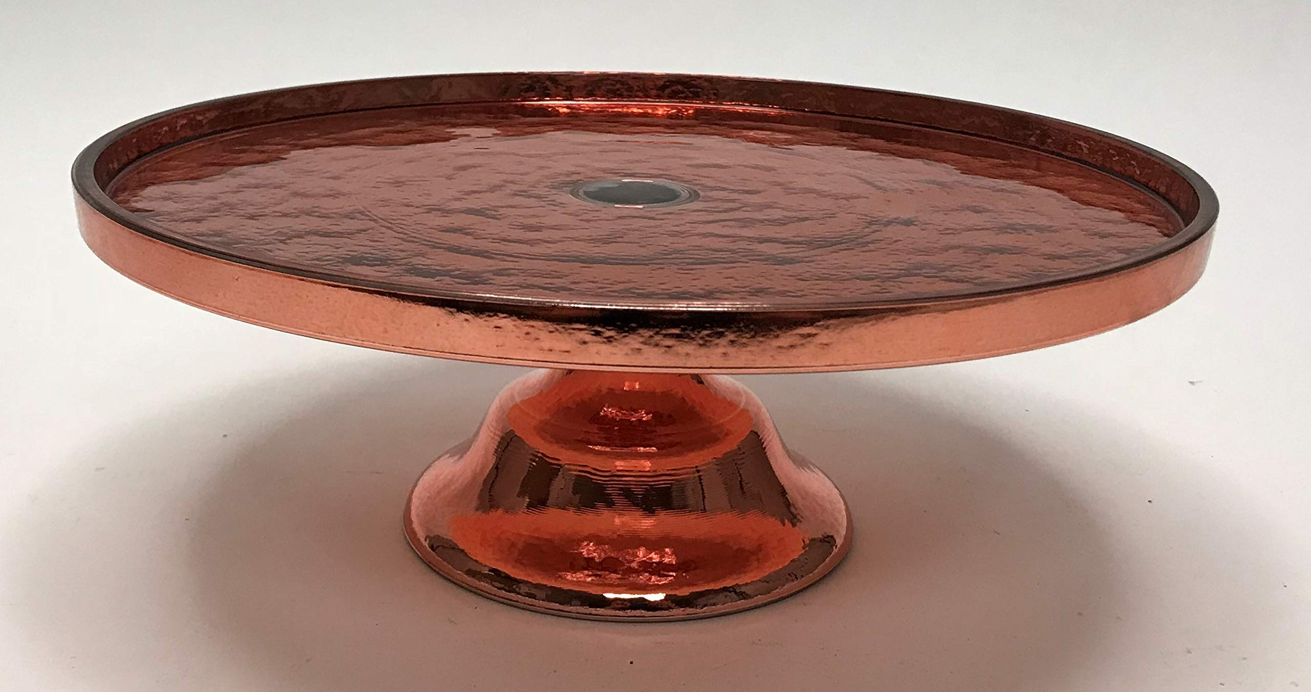 Circleware Metro Metal Style Rose Gold Footed Cake Plate, 11.61 x 4.53