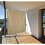 Garden at Home 301050114-HE - Tenda da sole verticale per balcone, 130 x 240 cm, colore: crema