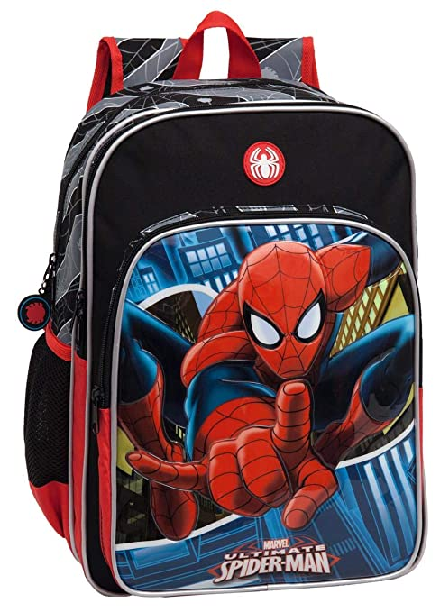 Marvel 2452451 Spiderman Mochila Escolar, 15.6 litros, Color Azul