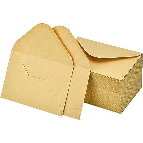 Lvcky 120 Lot Mini Enveloppes Kraft Carte Cadeau Thanksgiving Fete De Mariage