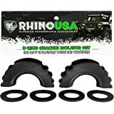 Rhino USA D-Ring Shackle Isolators (2) with Washers Included (4) - Fits Standard 3/4 Shackles - Protect Your Shackles from Da