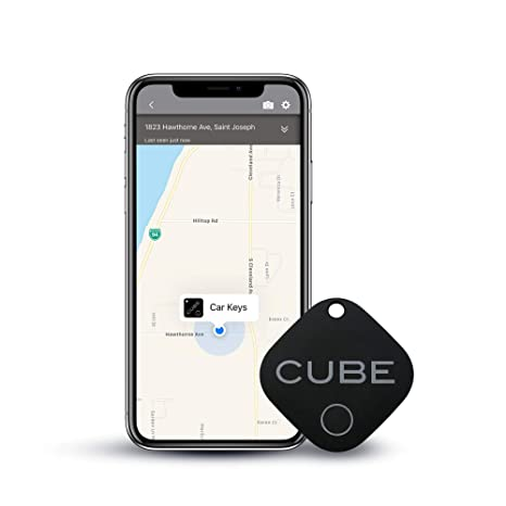 Cube Key Finder Smart Tracker Bluetooth Tracker for Dogs, Kids, Cats, Luggage, Wallet, with app for Phone, Replaceable Battery Waterproof Tracking ...