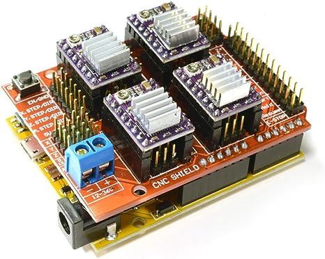 rokoo 3d impresora CNC Cartel V3 + 4 unidades Ti DRV8825 + Uno R3 ...