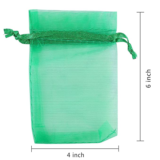 Amazon.com: 100 bolsas de organza Akstore, 4x 6 ...