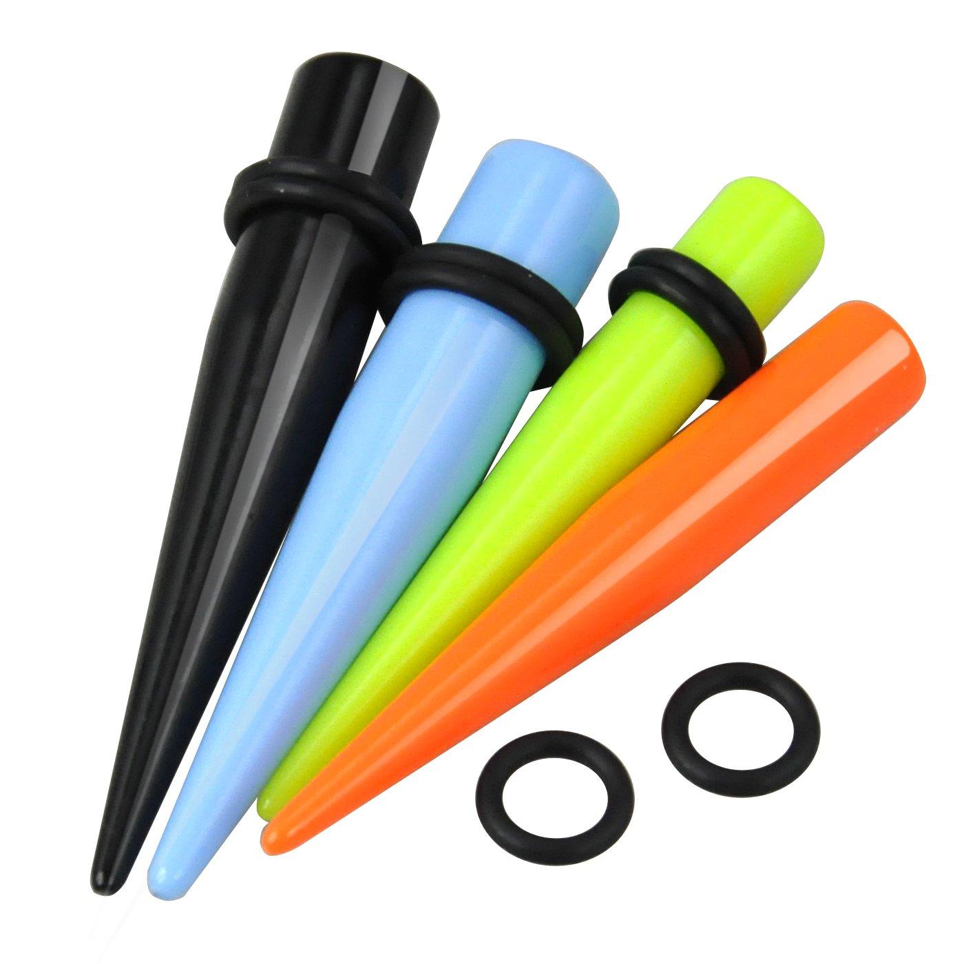 TRIXES 18 Piezas Ensanchadores de Oreja Multicolor - Kit de Dilatadores - 18 PZ Dilatación Oreja: Amazon.es: Belleza