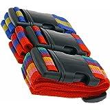 LS Design 3x Koffergurt Gepäckgurt Gepäckband Kofferriemen Kofferband Gurt 3 Stück bunt Rainbow LS-LebenStil